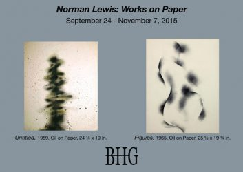 New Norman Lewis Works on Paper Card 9_25_15